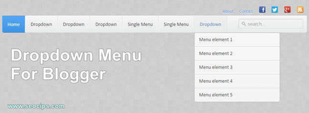 Cara Membuat Neat CSS3 Dropdown Menu di Blogger