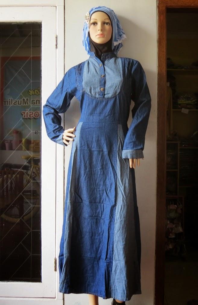 Gamis Jeans Wanita Kombinasi GJ1075