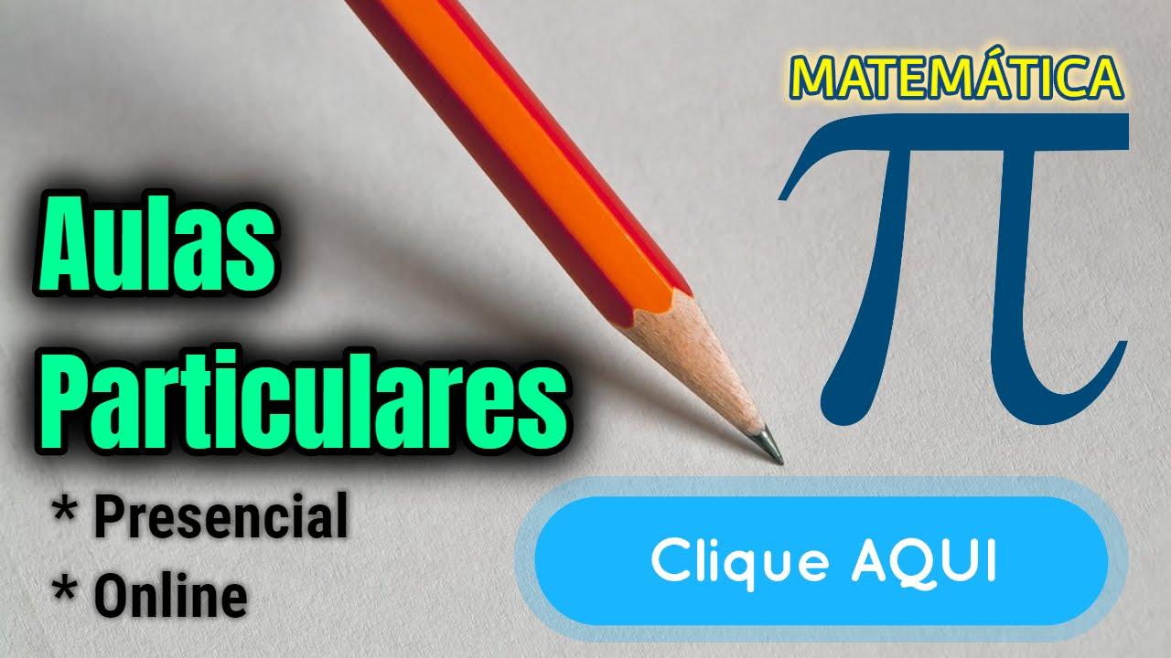 Aulas Particulares de Matemática