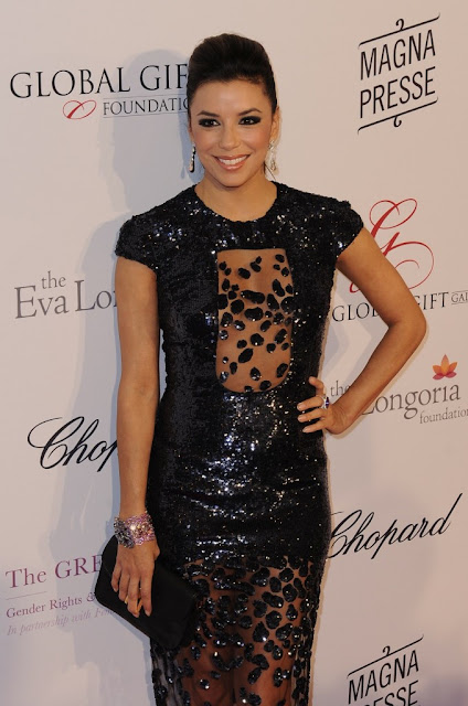 Eva Longoria sublime en robe Yanina au Global Gift Gala