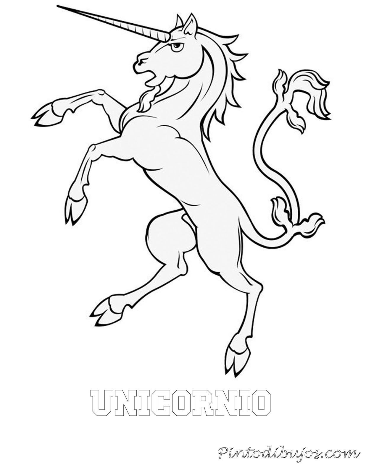 Unicornio para colorear