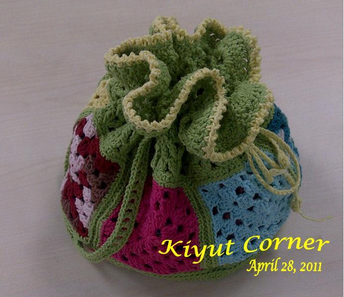 Tas tangan rajutan (Crochet Handbag )