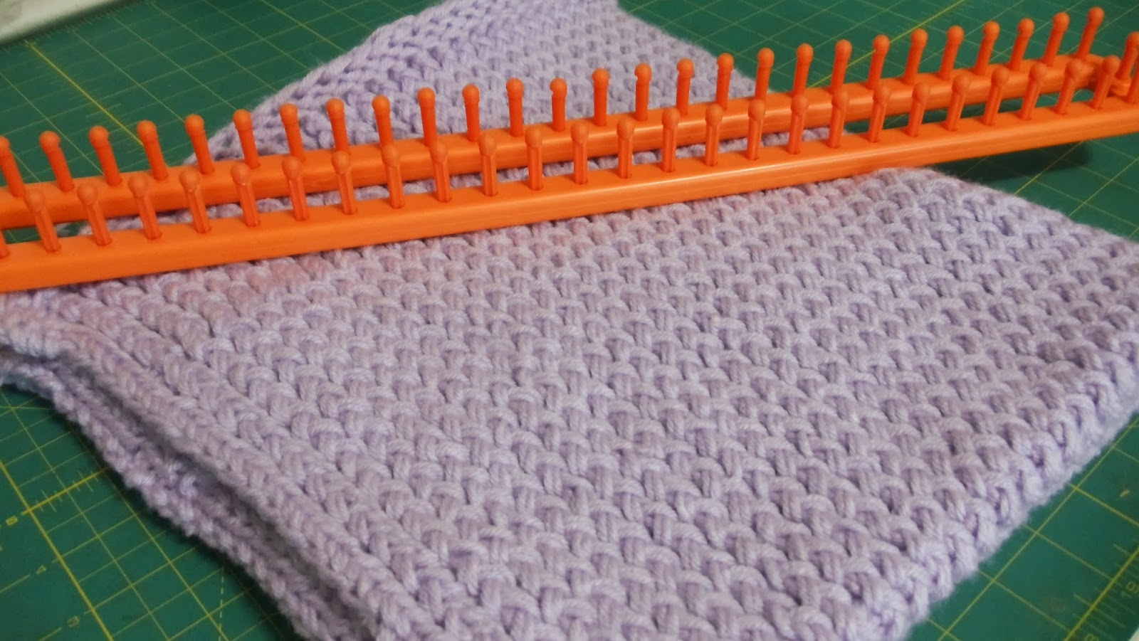 Crocheting On A Loom : Knitting, Loom Knitting, Crochet, Sewing : Loom Knit Baby Blanket
