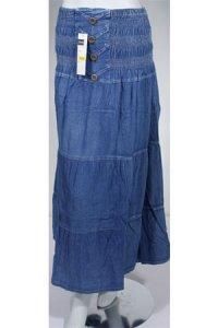 Rok Jeans Dubai 22017 - Biru Dongker (Toko Jilbab dan Busana Muslimah Terbaru)
