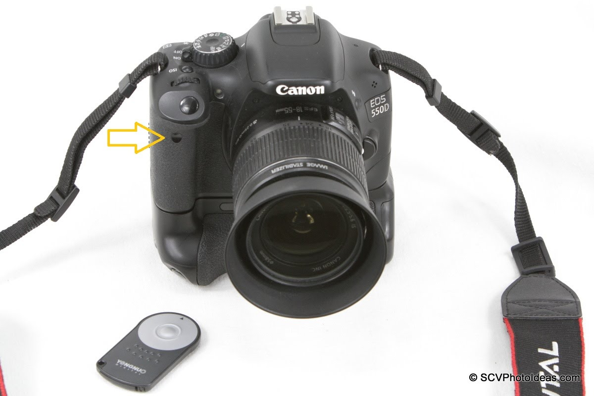 Canon EOS 550D + Grip with YongNuo RC-5 Remote