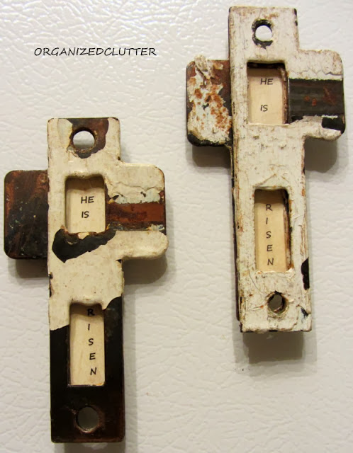 Strike Plate Cross Easter Magnets www.organizedclutterqueen.blogspot.com