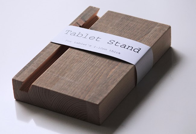 tablet stand trash design