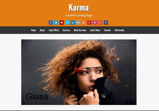 Chia sẻ Karma Blogger Template - Mẫu Landing Page chuyên nghiệp cho Blospot