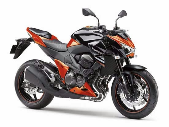 2014 Kawasaki Z800 Black Orange