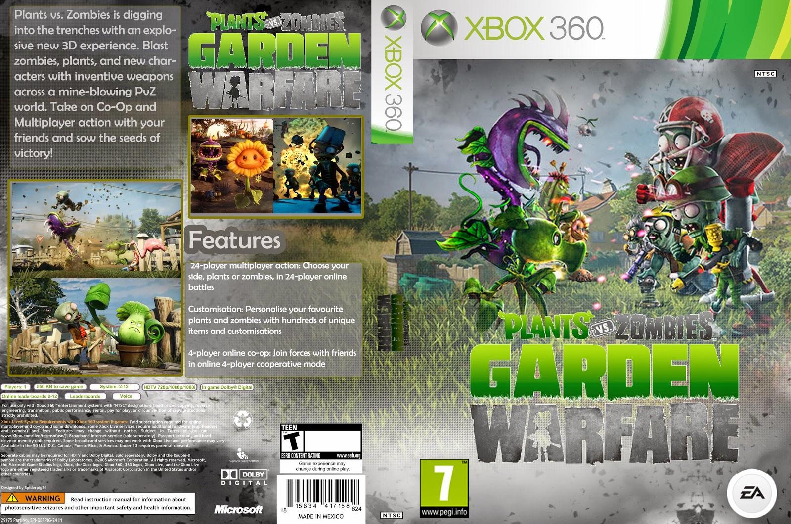 Capa Plants VS Zombies Garden Warfare Xbox 360
