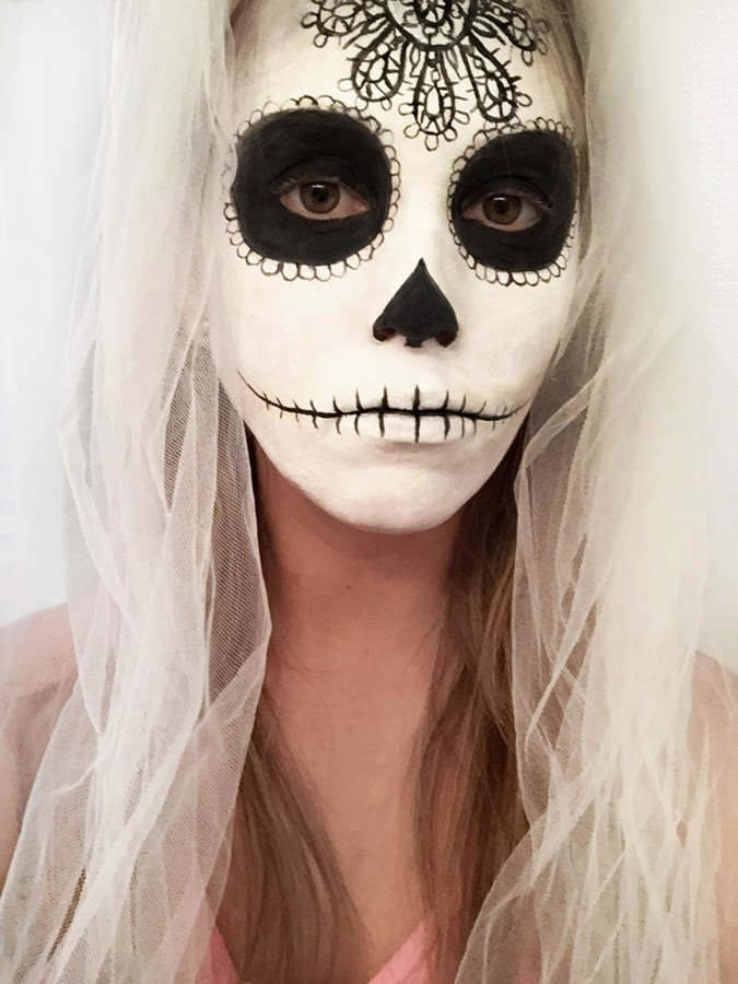 sugar skull face paint for halloween