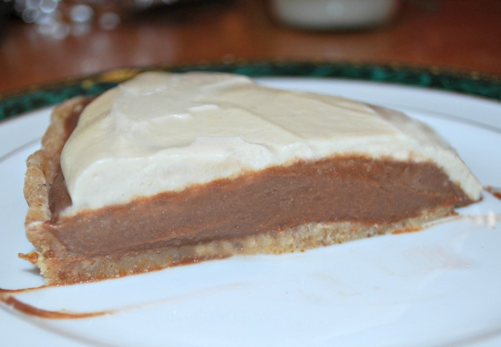 Decadent Vegan Chocolate Silk Cream Pie with Vanilla Whip Topping