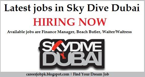 Latest jobs in Sky Dive Dubai