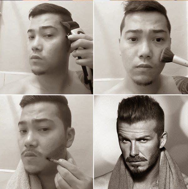 #MakeUpTransformation david beckham