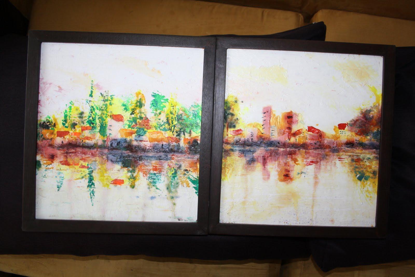 For sale cuadros oleo peque os enmarcados for Cuadros decorativos segun feng shui