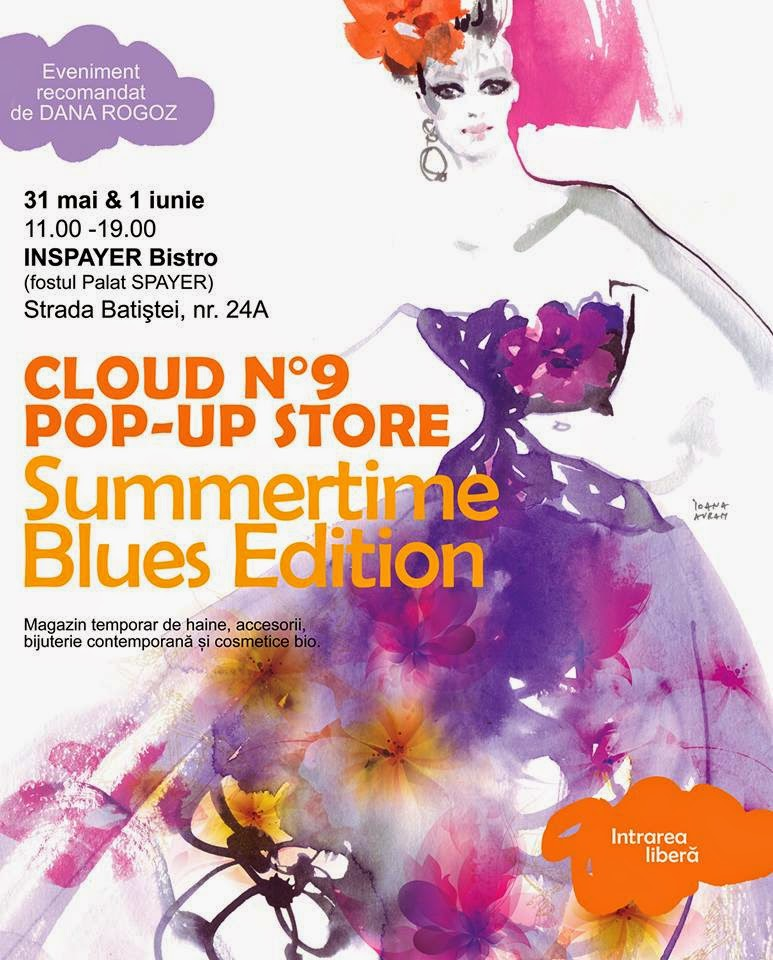 cloud no.9 pop-up store summertime blues unde sa-mi beau cafeaua