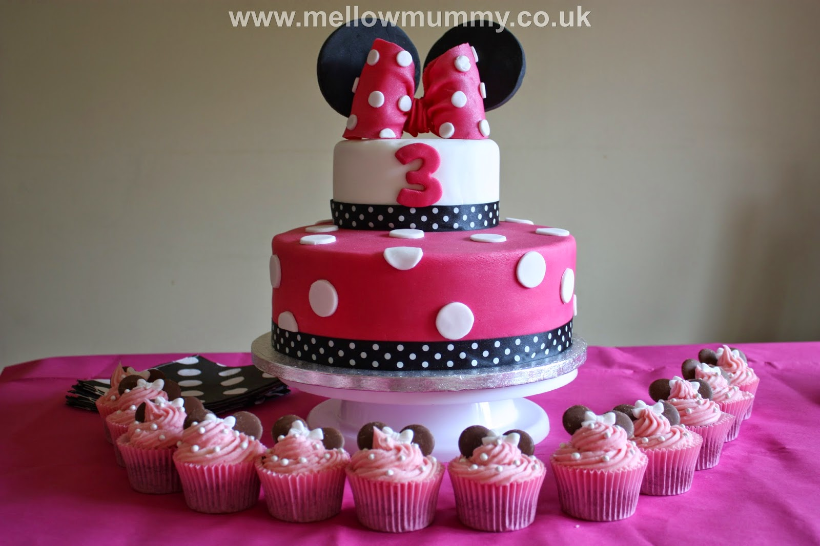 Mellow Mummy The One With The Spotty Minnie Mouse Birthday Cake