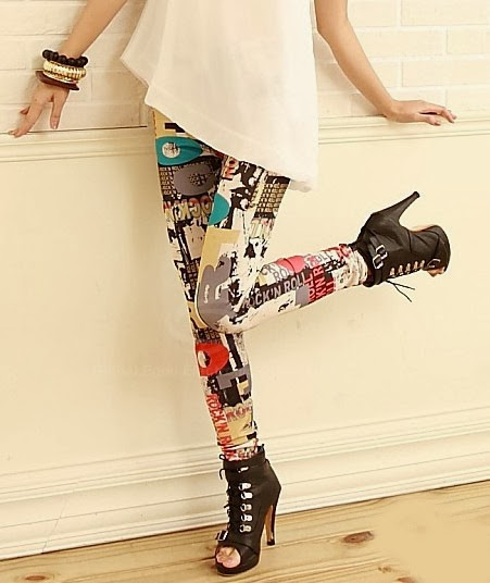 Print Leggings - $20 (No Size)  #LG6788