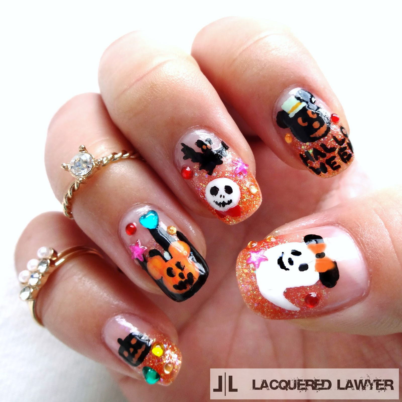 Halloween Nail Art: Nail Art Blog: Disney Halloween