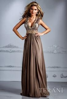 kahverengi gece elbiseleri