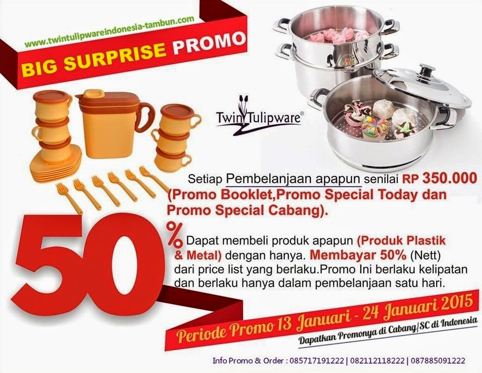 BIG SURPRISE Promo Twin Tulipware Januari 2015