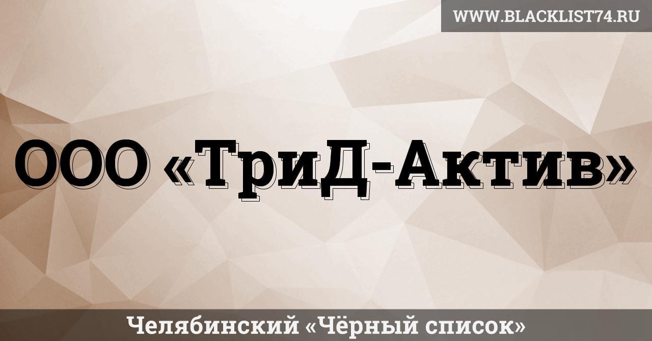 ООО «ТриД-Актив», г. Челябинск