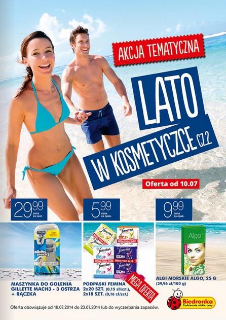 Lato w kosmetyczce, cz.2 czyli oferta kosmetyczna Biedronki ważna od 10.07.2014