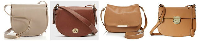One of these saddle bags is from London Fog for $55 (regular $135) and the other three are priced from $535 to $825. Can you guess which one is the more affordable bag? Click the links below to see if you are correct!