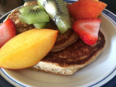 gluten-free dairy free fruit pancakes