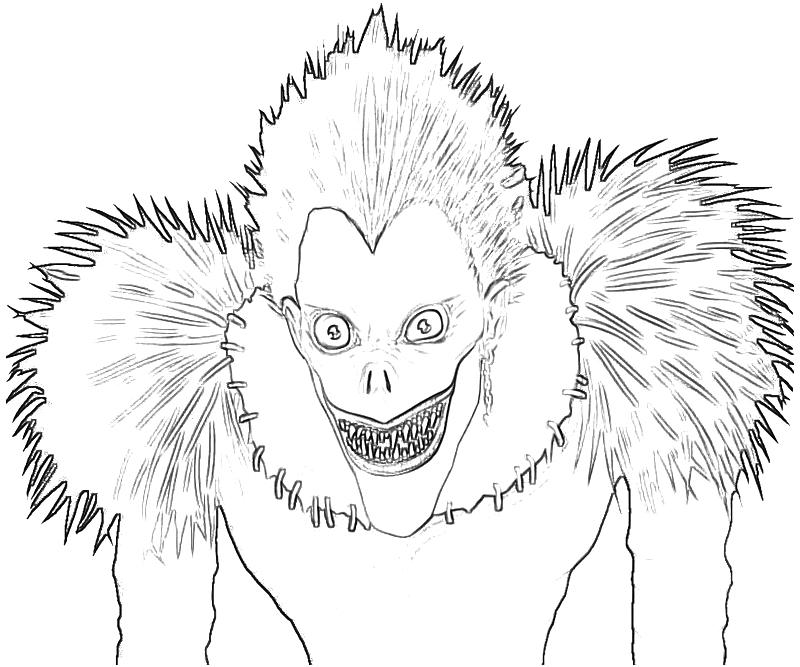 death note coloring pages Death Note Ryuk Character | Temtodasas death note coloring pages
