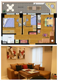 Avida Towers New Manila Two Bedroom Unit Plan