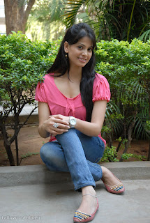 Supriya Sailaja Rushi movie Actress Pictureshoot in a cute Pink Top and Denim