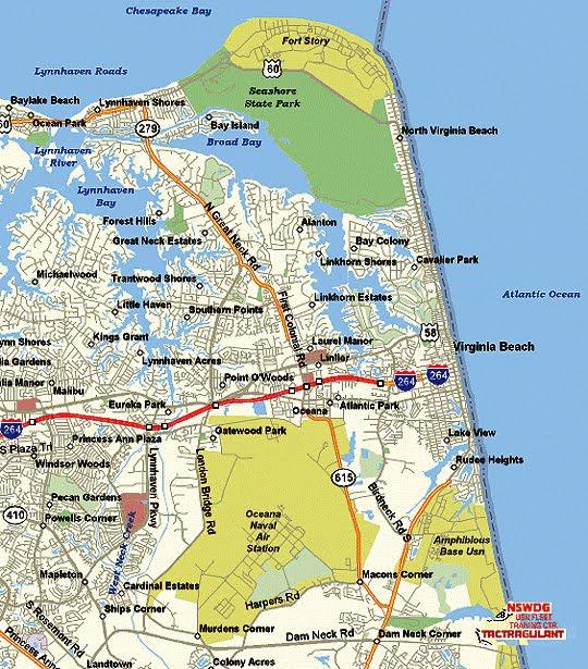 Virginia Beach Map  Free Printable Maps