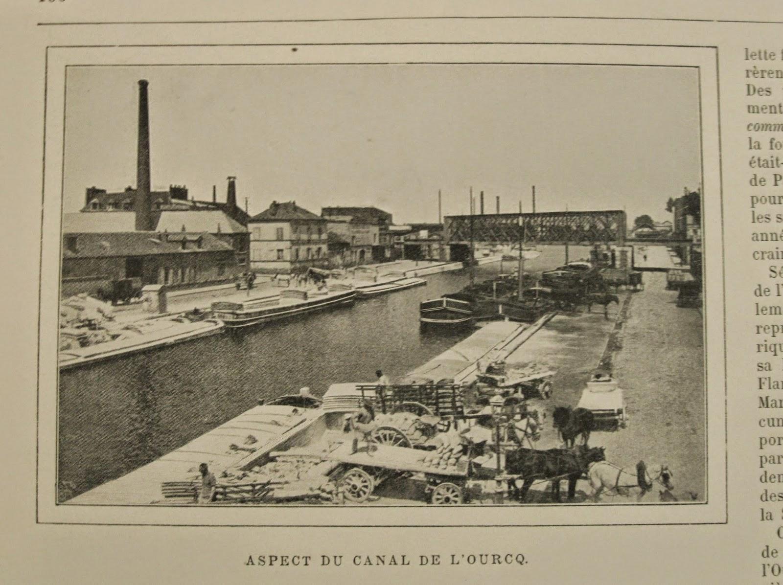 Bournon Paris Atlas 19e Larousse canal ourcq