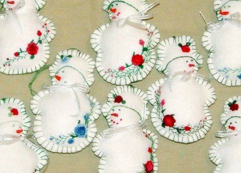 embroidered felt ornament by sunshines creations - Handmade Felt Christmas Decorations