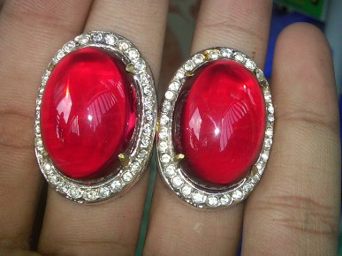 Batu Akik Merah Siam Asli