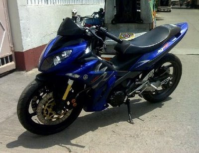 Modif Jupiter mx Warna cerah biru racing