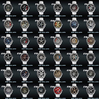 Complete Volk Rays Wheel Cap Sport Metal Watch