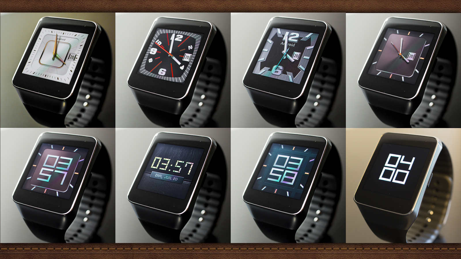 Designer android wear watchface - Wear Face Collection Cool Watch Faces From Analog To Digital Best Android Wear Apps