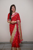 Priyal Gor Dazzling in Red Saree-thumbnail-11