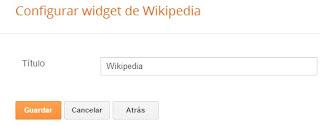 Configurar gadget de Wikipedia