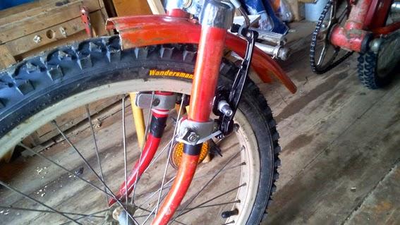 Как установить тормоза v-brake на старый велосипед фото1