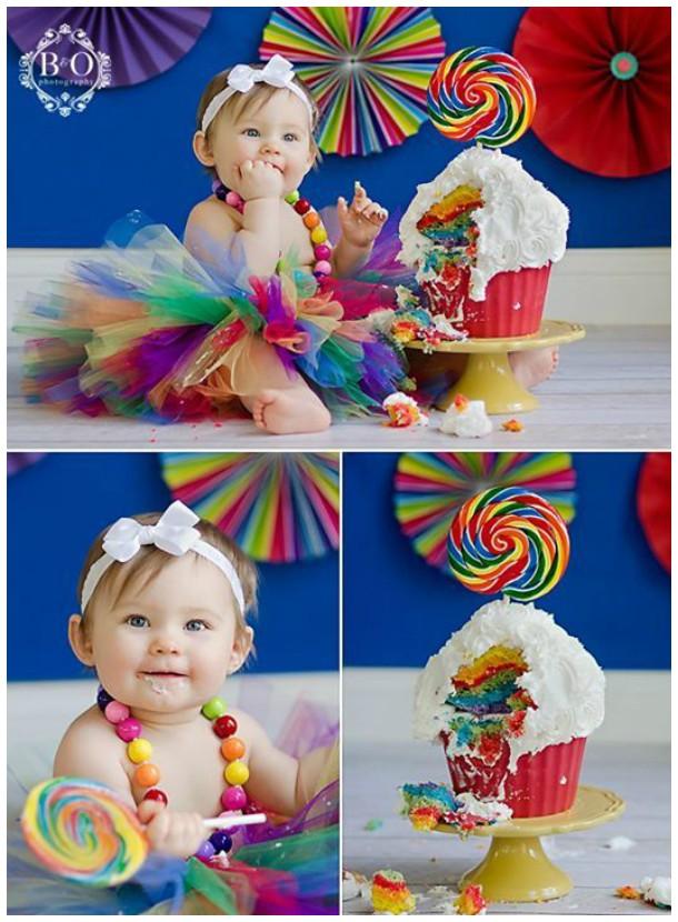 Super colorido esse smash the cake!