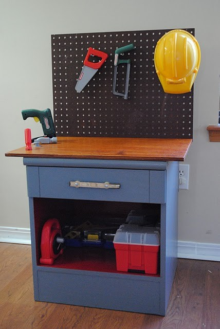 Homemade Kids Workbench