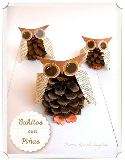 My Owl Barn DIY Pinecone Owls