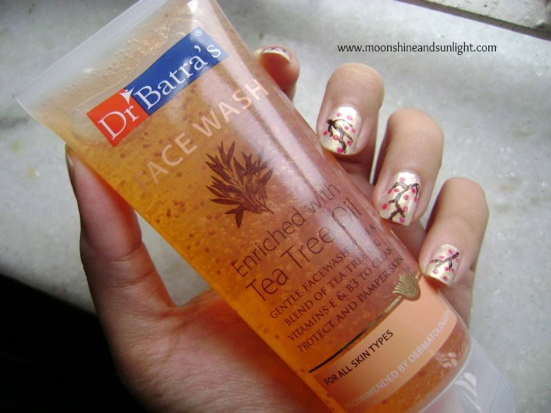Dr.Batra's facewash Enriched with Tea tree oil review and price , Indian beauty blog, face wash review , review blog
