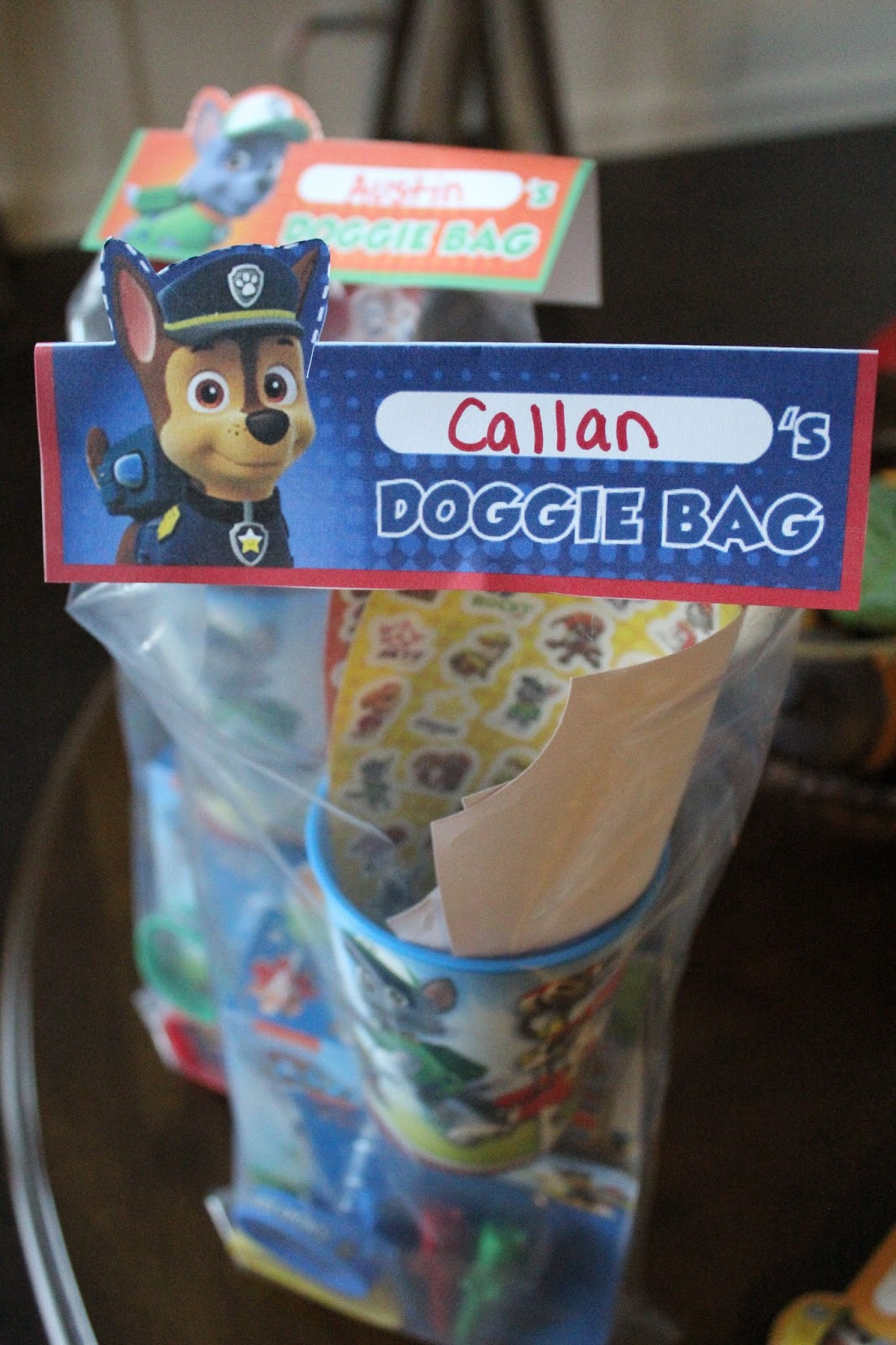 Paw Patrol Birthday Party doggie bags