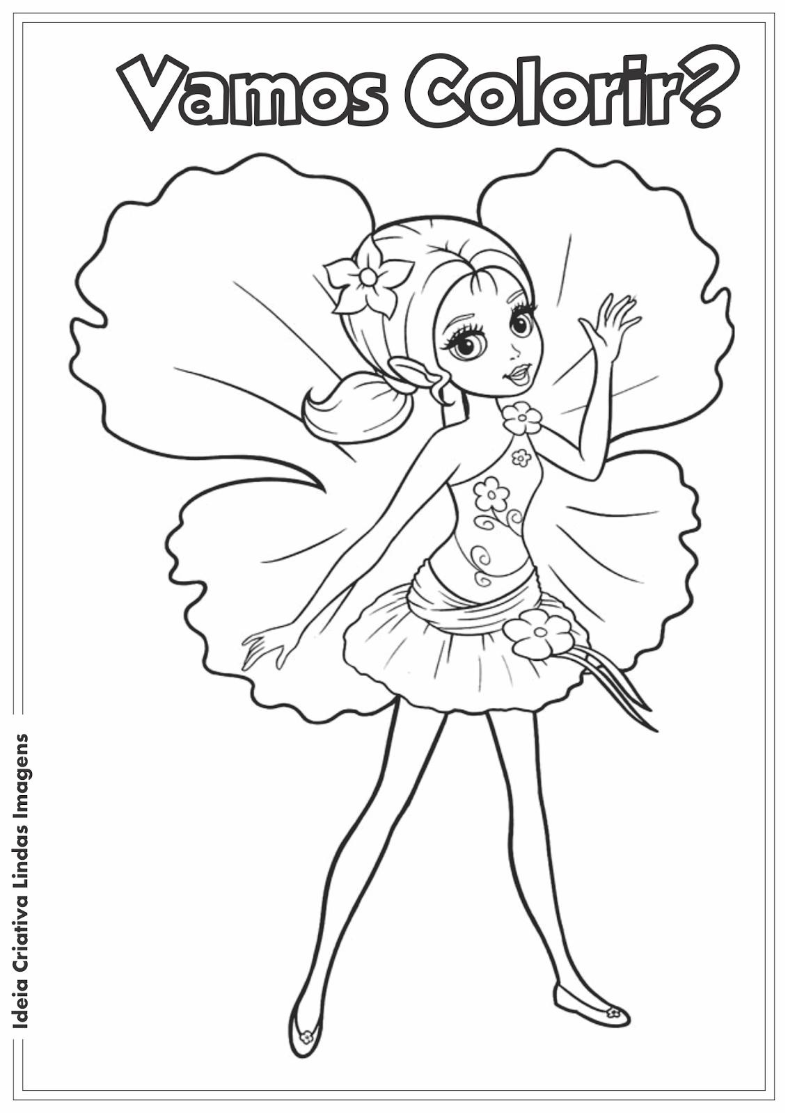 Barbie Thumbelina desenho para colorir