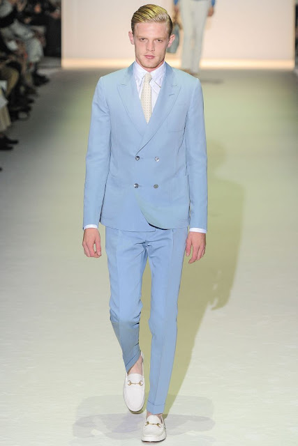 Male model Lenz Von Johnston S/S 2013 Gucci