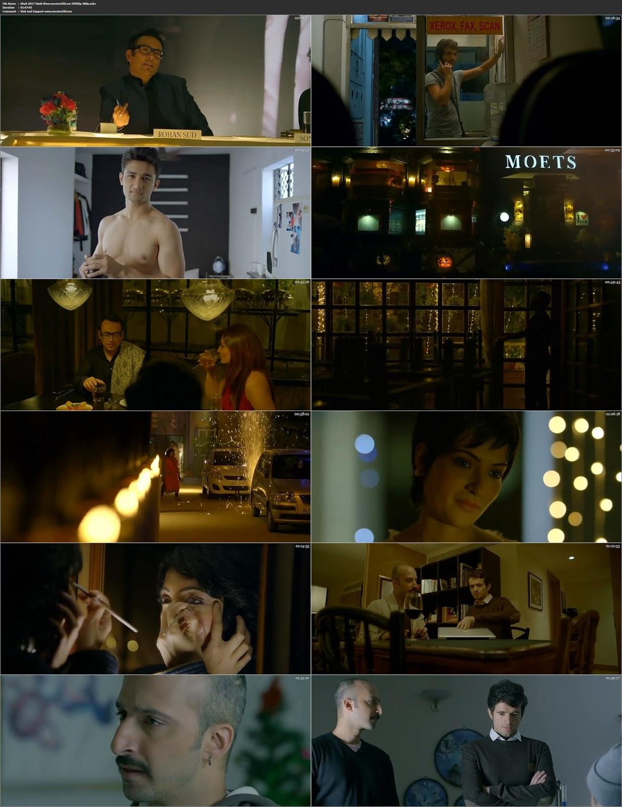 Shab 2017 Bollywood 300MB Full Movie DVDRip 480p